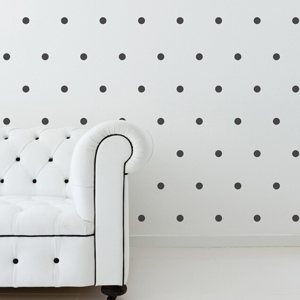 1 Inch Black Dot Wall Decals