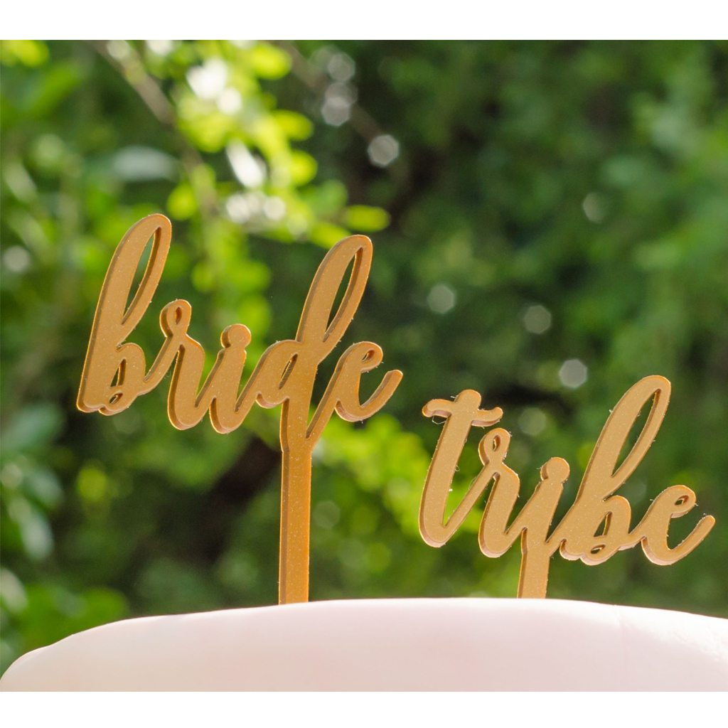 Bride Tribe Cake Topper by California Lustre