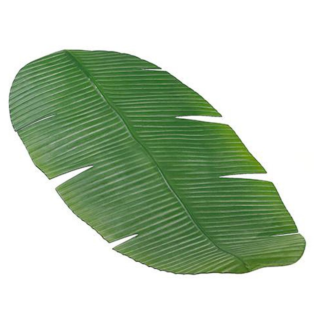 Artificial Banana Leaf Table Runner in Green by A Floral