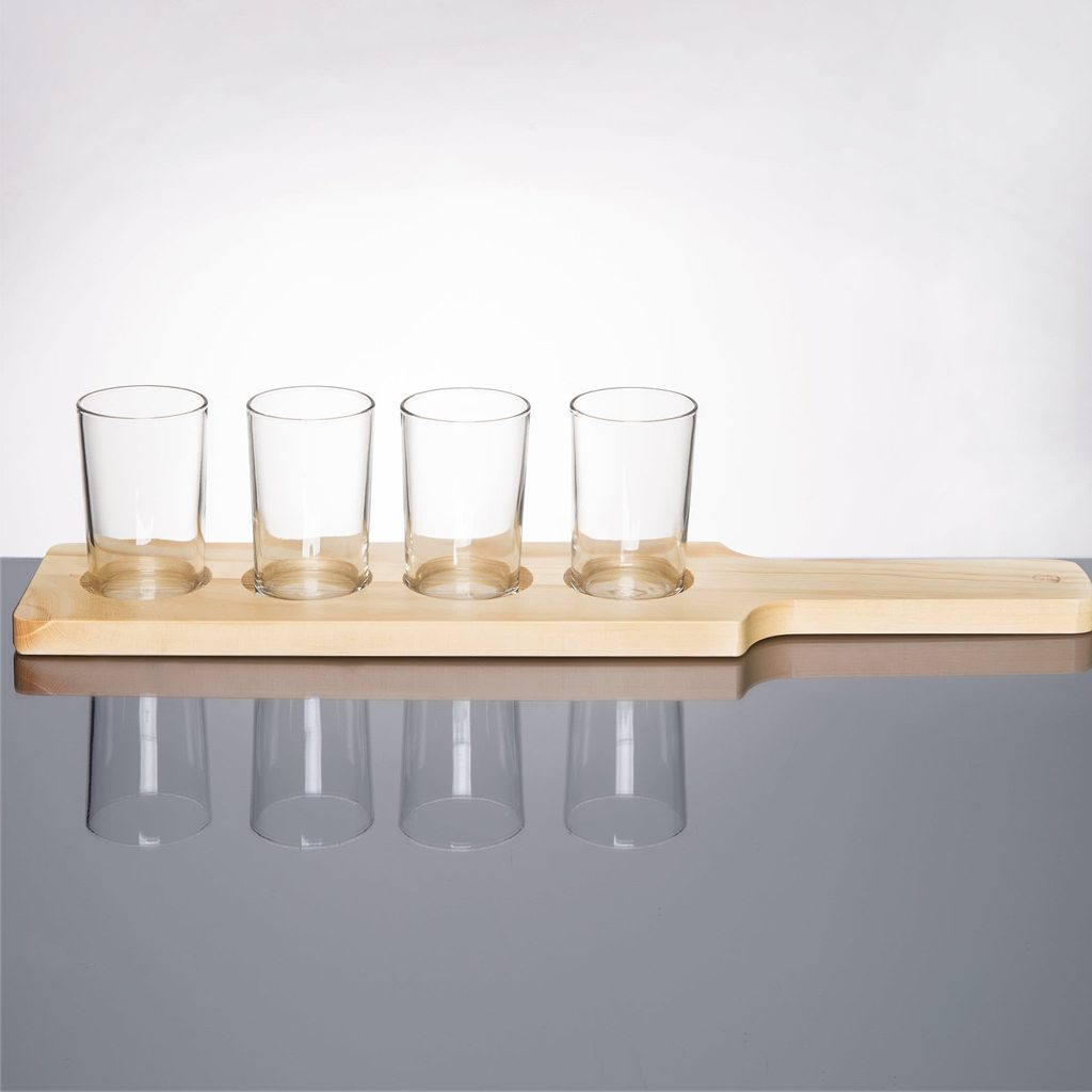 Beer Tasting Paddles with Glasses from Libbey Craft Brews