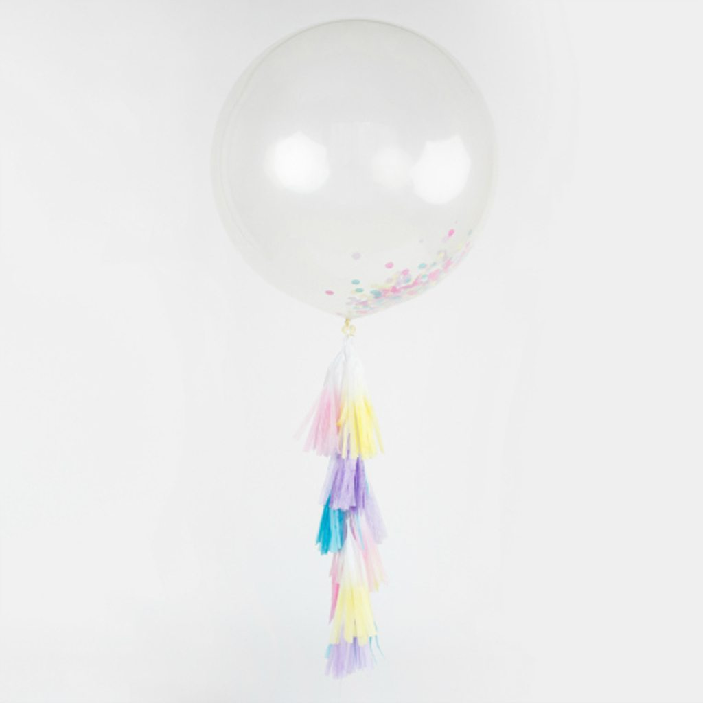 Jumbo Confetti Balloon with Tassels from One Stylish Party