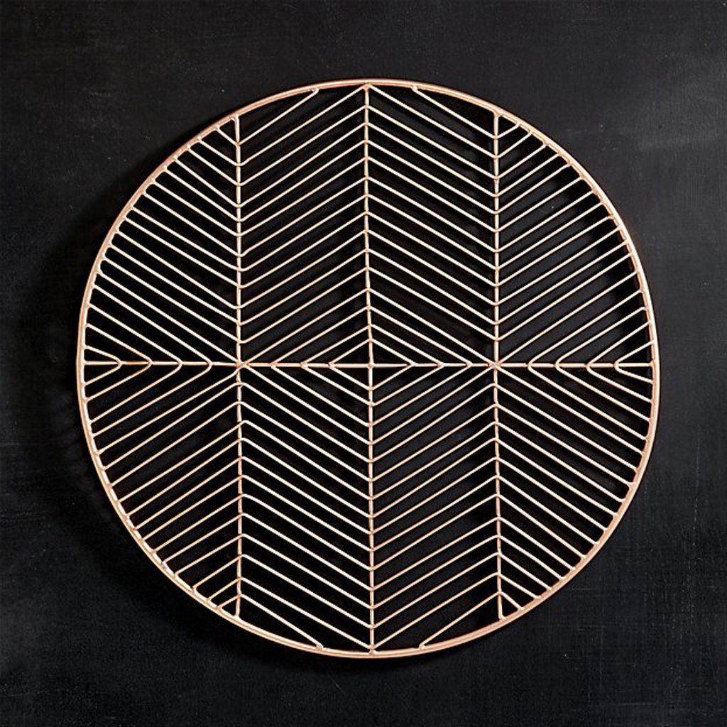 register copper placemat by CB2