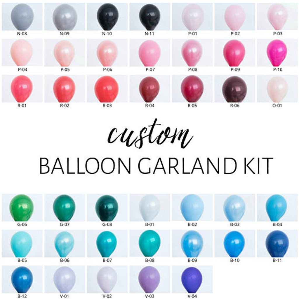 One Stylish Party Custom Balloon Garland Kit - You Pick the Colors!