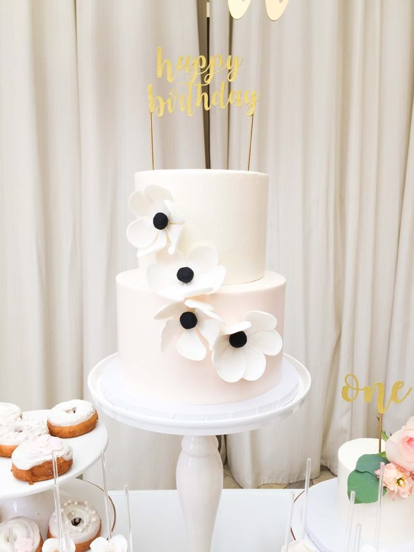Cake from Botanical Garden Birthday Party styled by Dohlhouse Designs | Black Twine