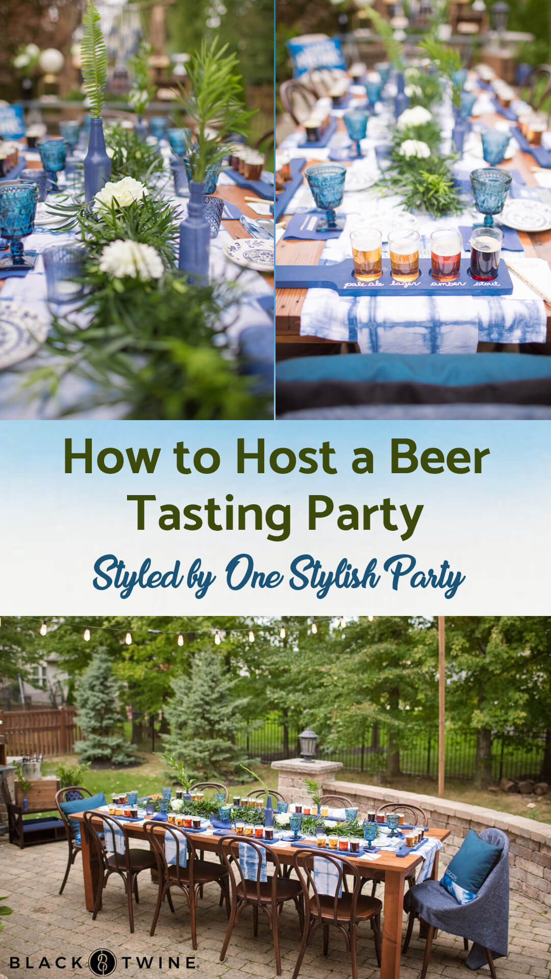 Photos from Beer Tasting Party styled by One Stylish Party | Black Twine