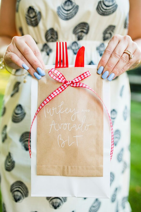 Picnic Bag from A Charming Fourth of July Party styled by Event Prep | Black Twine