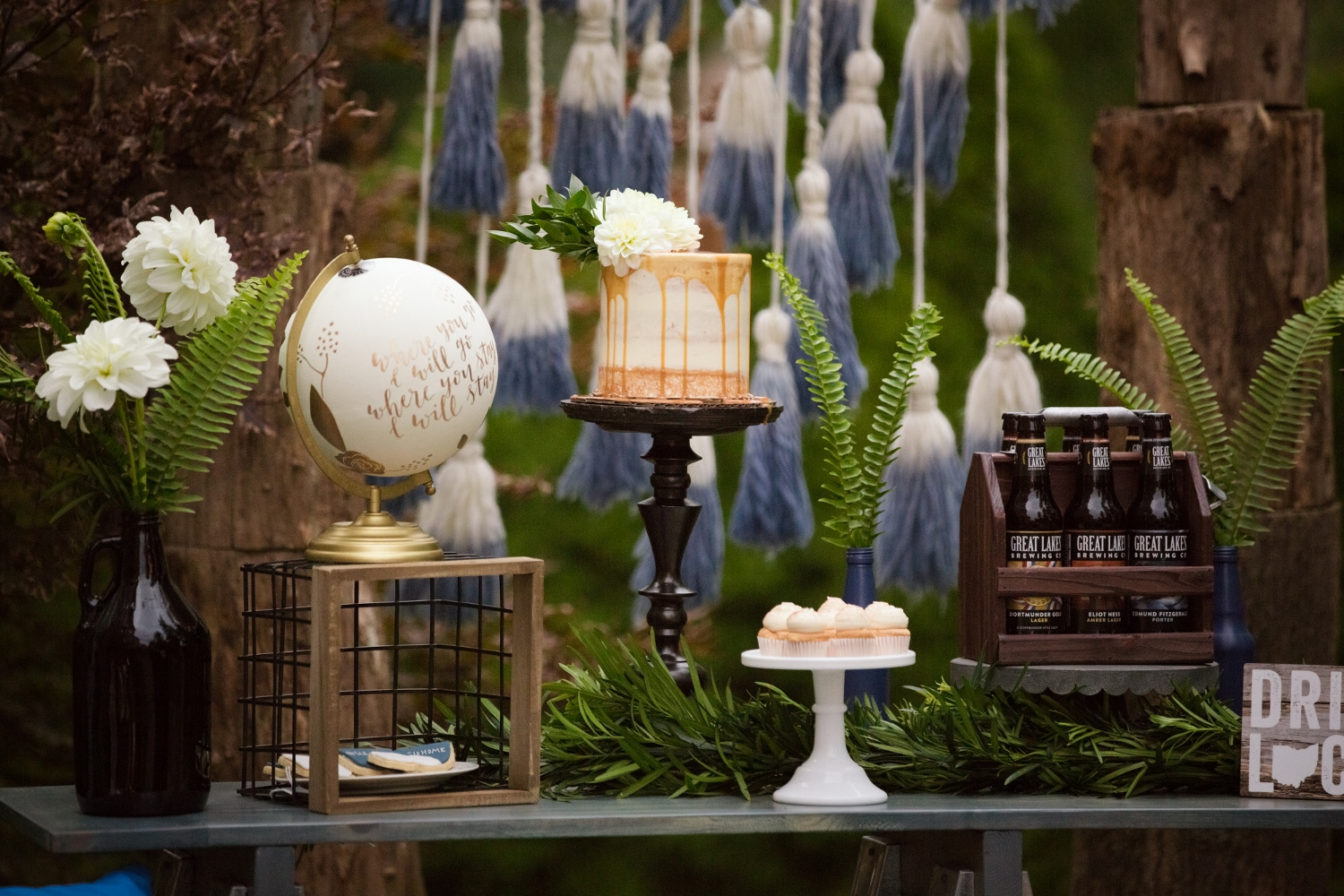 Dessert Table from Beer Tasting Party styled by One Stylish Party | Black Twine