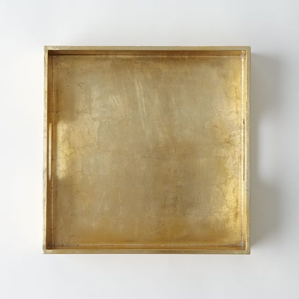 "Wood Tray, 12""X12"", Gold by West Elm"