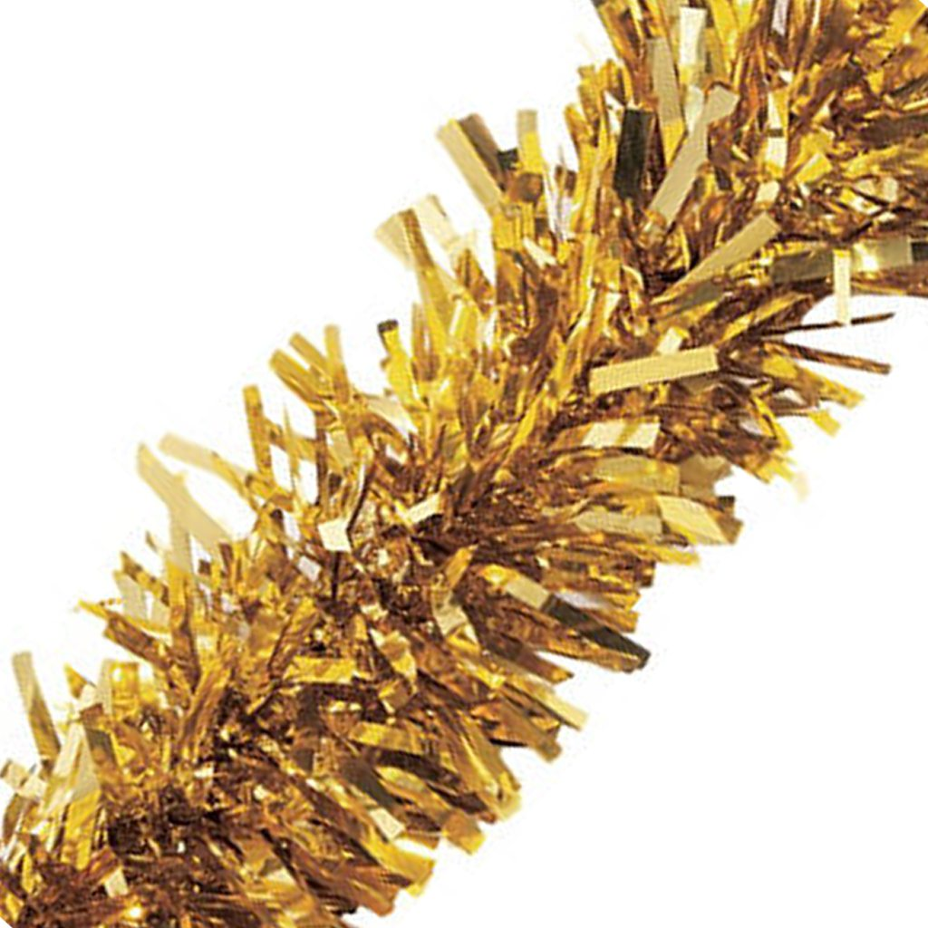 Metallic Gold Twisted Tinsel Garland - Party City