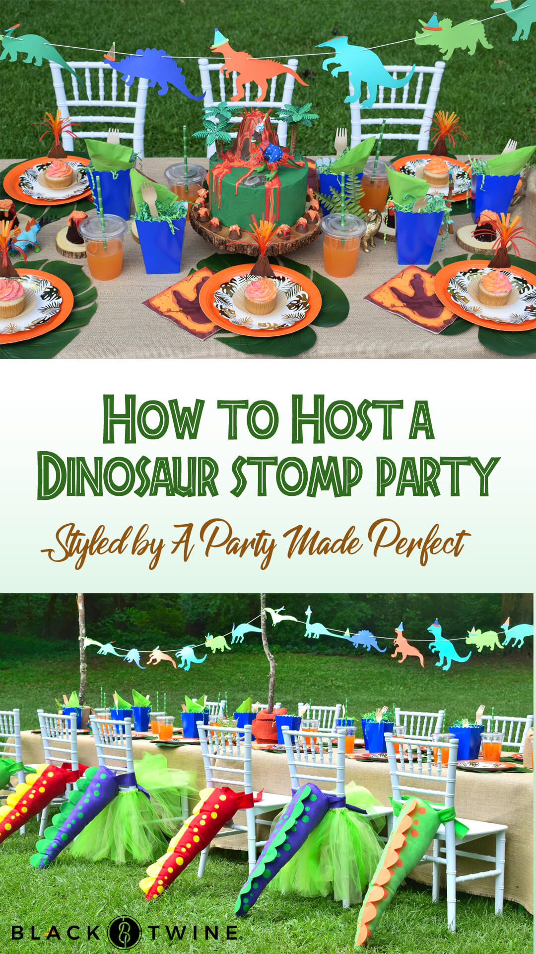 How to Host a Dinosaur Stomp Birthday Party from Dinosaur Stomp Birthday Party styled by A Party Made Perfect | Black Twine
