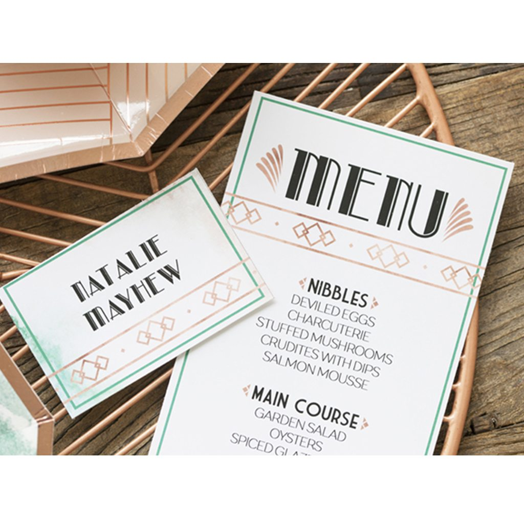 Art Deco Place Cards by Jen T by Design