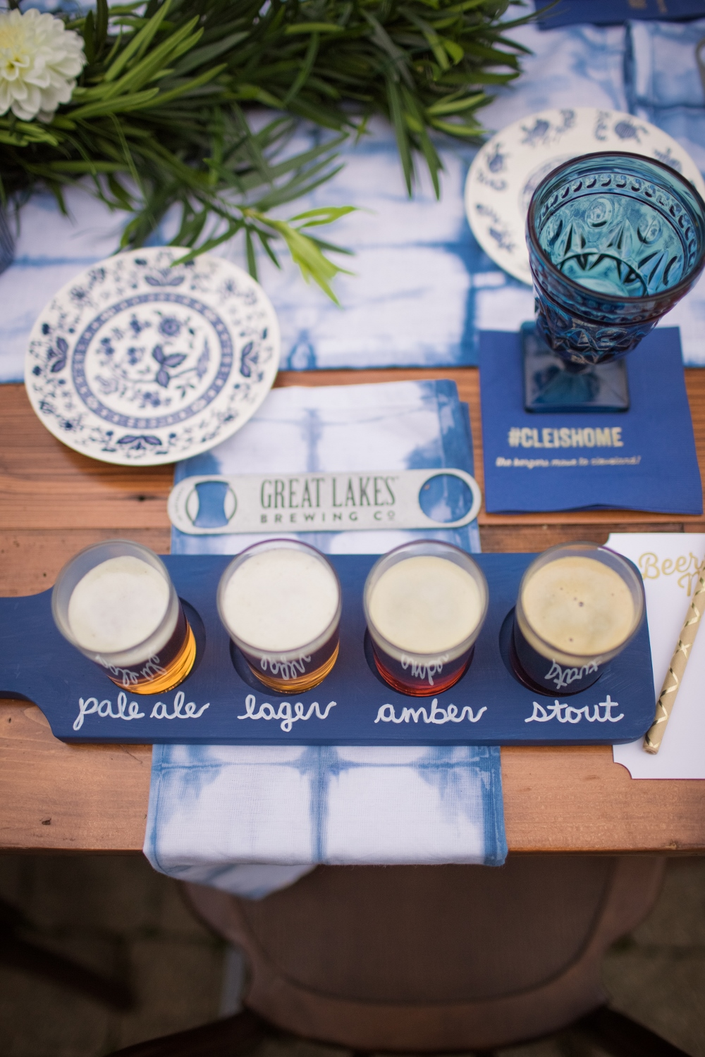 Beer Samplers from Beer Tasting Party styled by One Stylish Party | Black Twine
