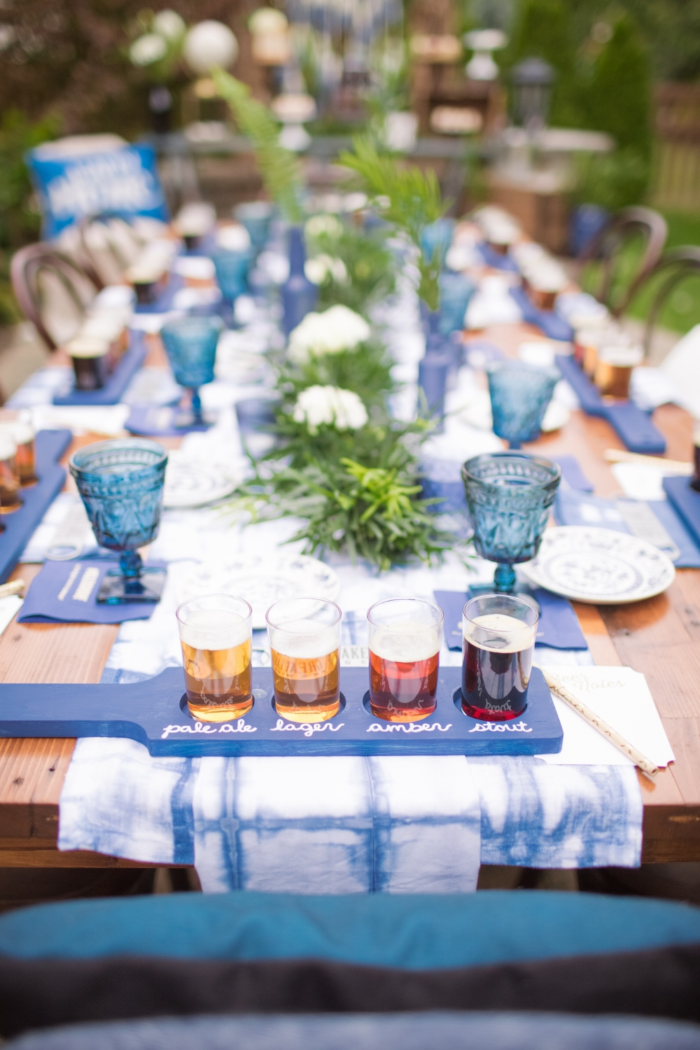 Place Setting from Beer Tasting Party styled by One Stylish Party | Black Twine