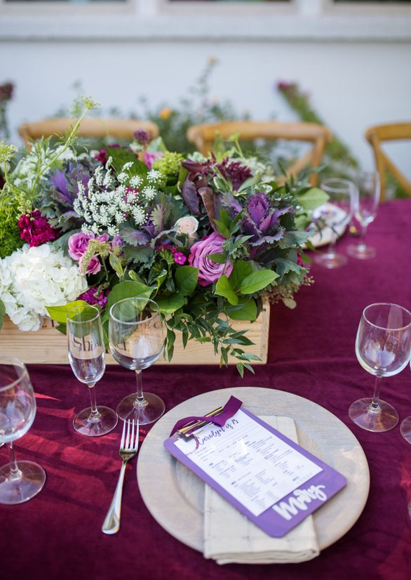 Place Setting from Wine Tasting Party styled by To Have + To Hold | Black Twine