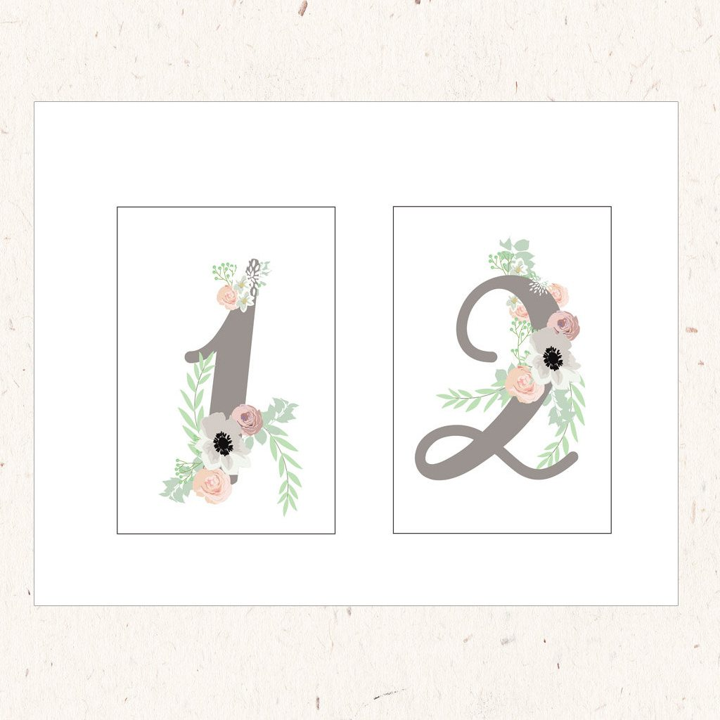 Table Number Cards from DohlHouse Designs