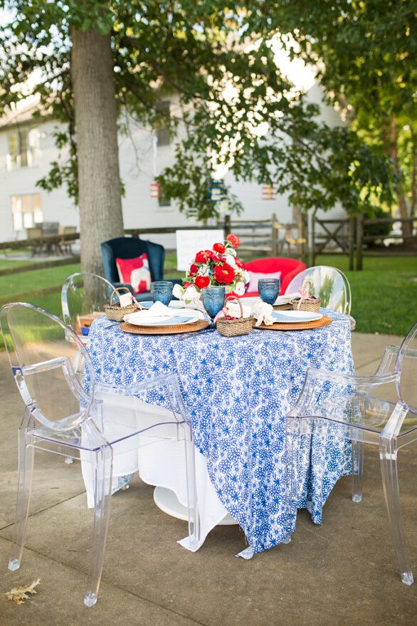 Tablescape from A Charming Fourth of July Party styled by Event Prep | Black Twine