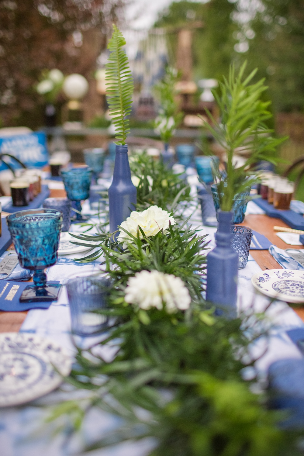 Tablescape from Beer Tasting Party styled by One Stylish Party | Black Twine