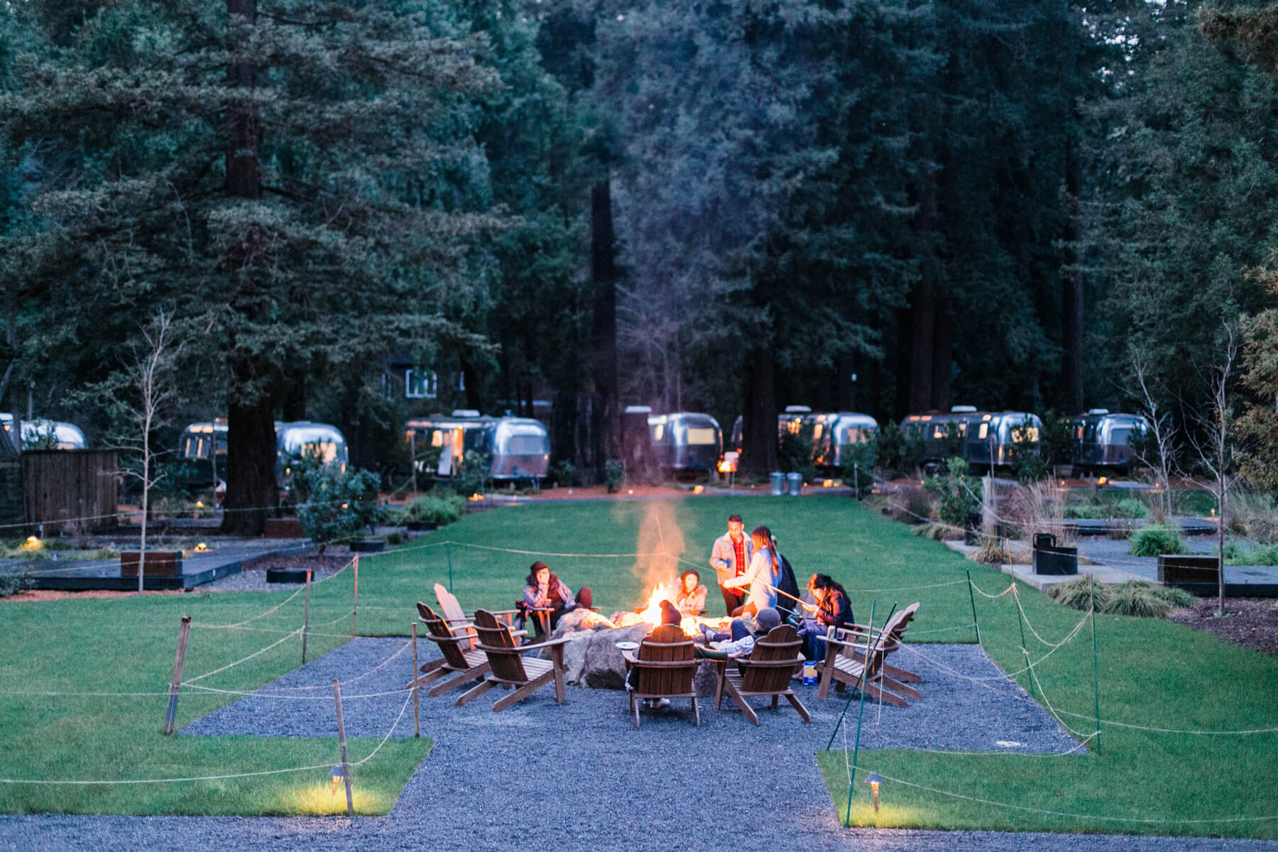 Trailer Park Bonfire from Into the Woods Party styled by The Revelry Co. | Black Twine