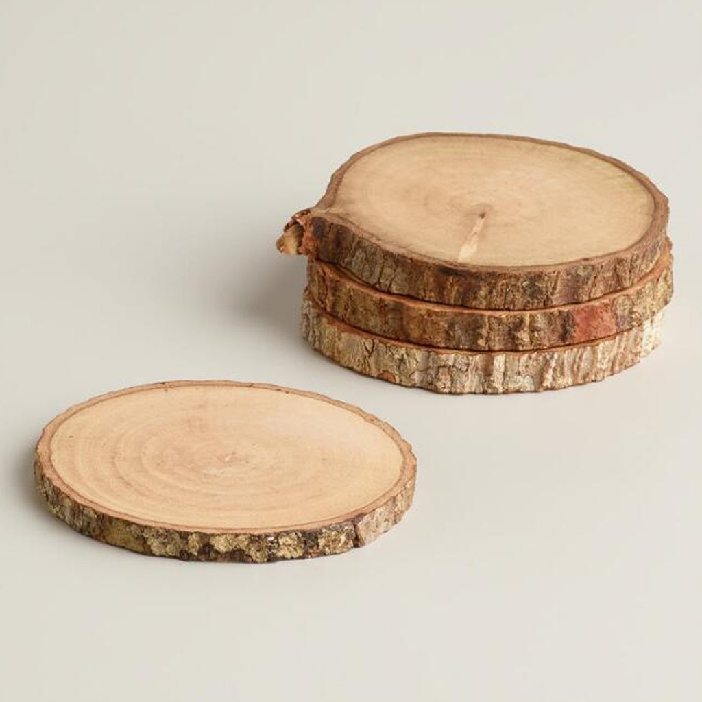 Wood Bark Coasters by Cost Plus Market