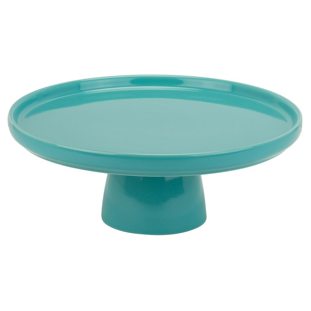 "10 Strawberry Street 10"" Whittier Cake Stand - Turquoise"