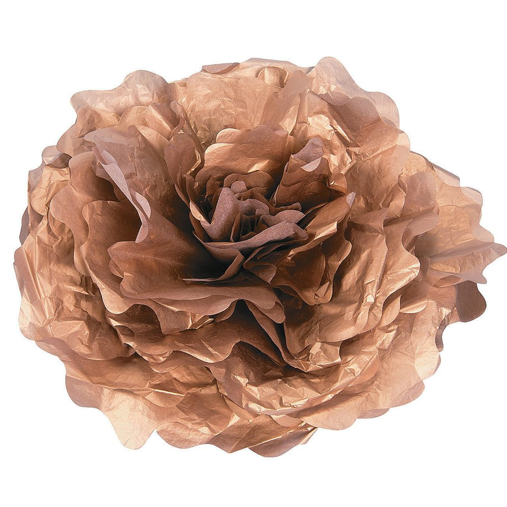Large Gold Tissue Flower Decorations from Oriental Trading