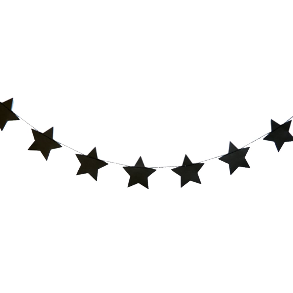 BLACK GLITTER STARS GARLAND from Geese & Ganders