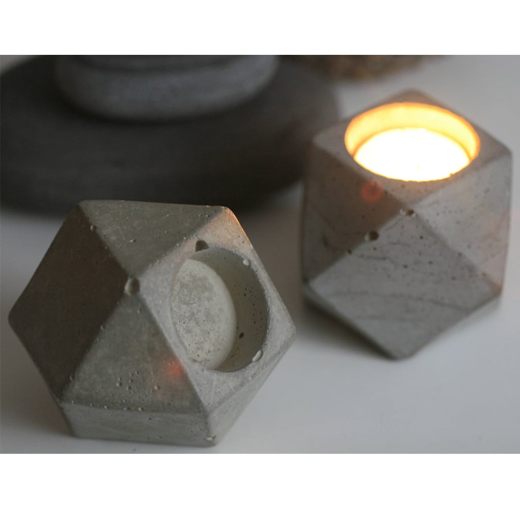 Concrete Decorative Candleholder from Kaiko Studio