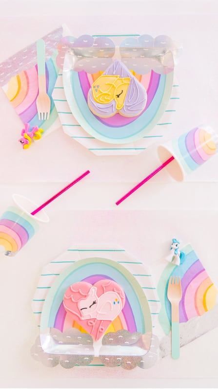 Place Setting from My Lil' Pony Party styled by But First, Party! & Bonjour Fete | Black Twine