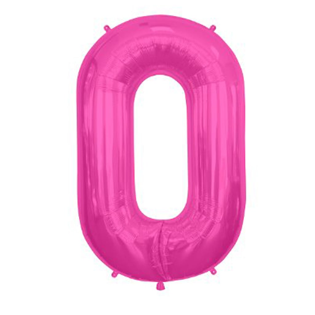 Pink Foil Balloon Letter O 16""