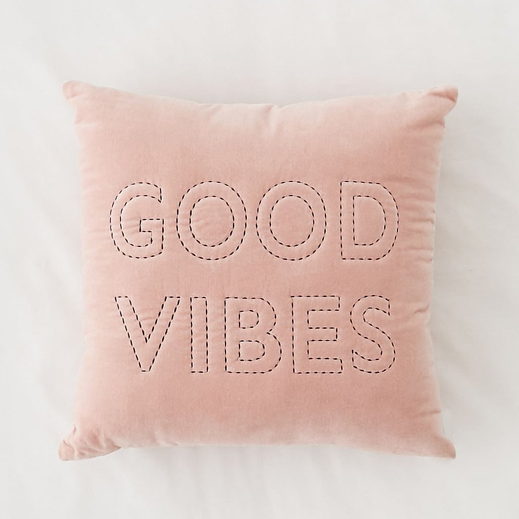 Good Vibes Velvet Throw Pillow