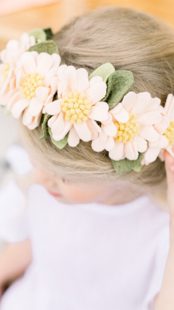 Daisy Headband from Peace, Love & Party styled by Deets & Things | Black Twine