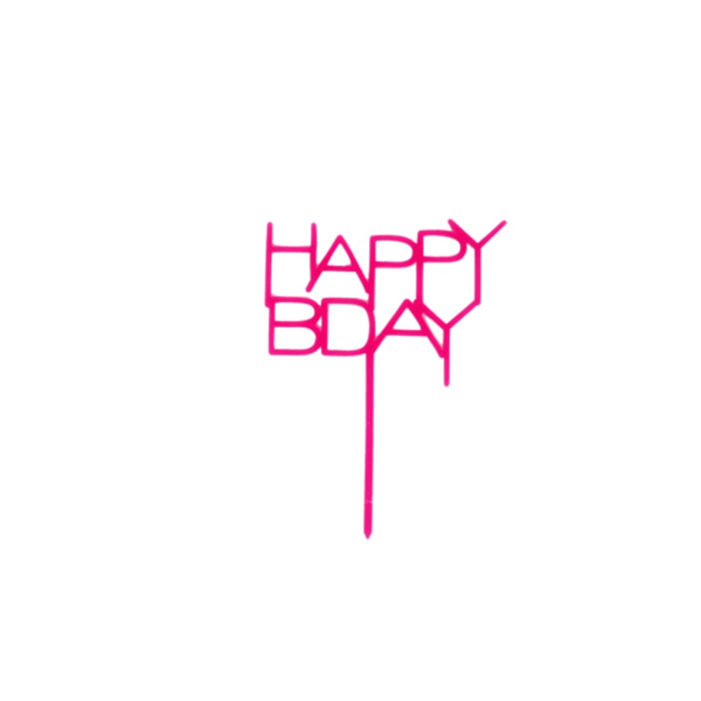 HOT PINK ACRYLIC HAPPY BDAY TOPPER from Geese & Ganders