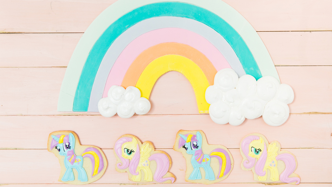 Lil' Pony Cookies from My Lil' Pony Party styled by But First, Party! & Bonjour Fete   Black Twine