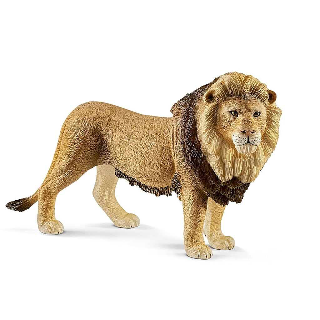 Gold Safari Lion Animal Cake Topper Set, Party Table Decor