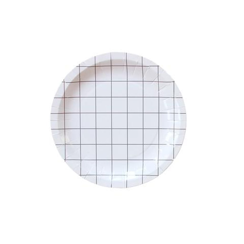 BLACK AND WHITE GRID MINI PLATE from Geese & Ganders