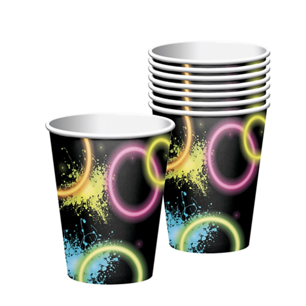 BLACK NEON DISCO CUPS from Geese & Ganders