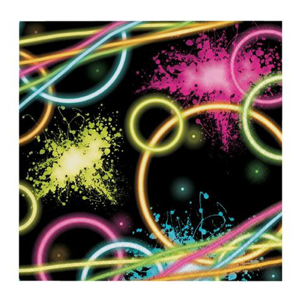 BLACK NEON DISCO LARGE NAPKINS from Geese & Ganders