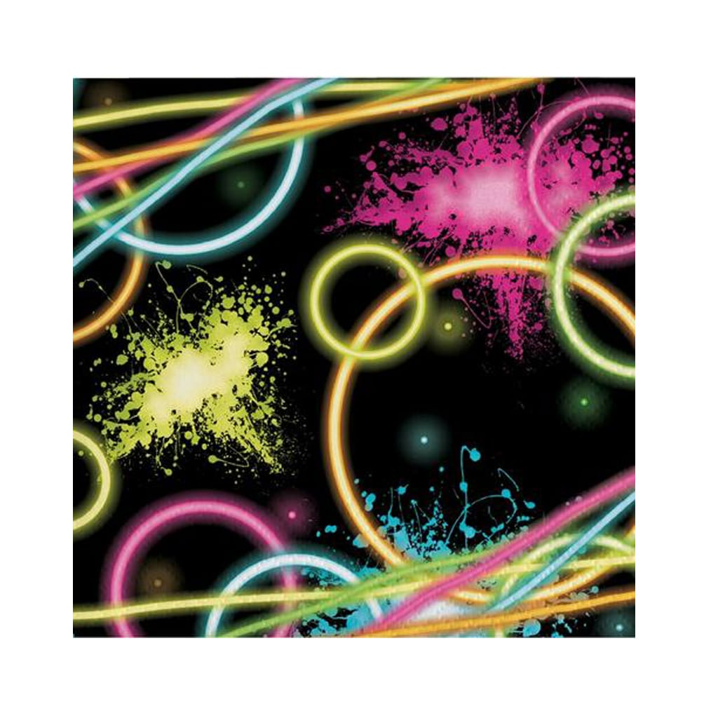 BLACK NEON DISCO SMALL NAPKINS from Geese & Ganders