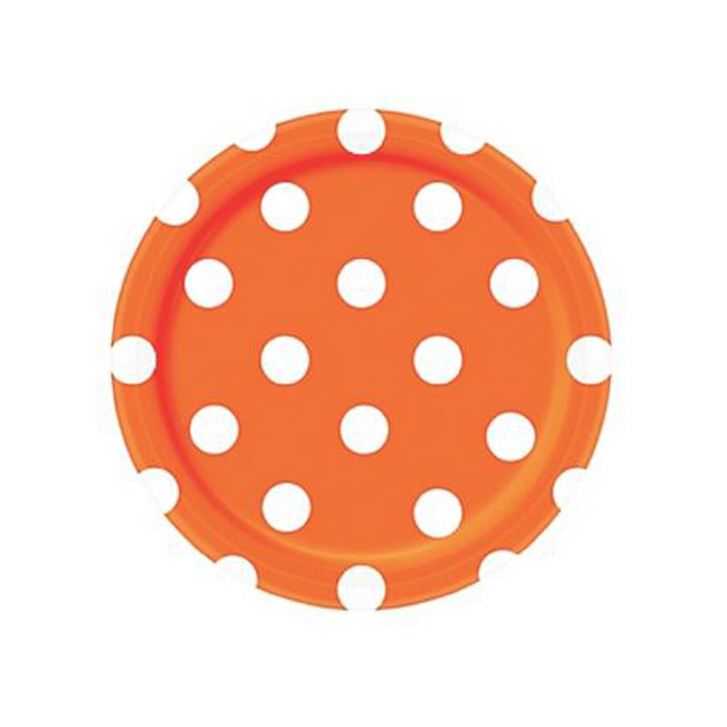 ORANGE AND WHITE DOTS SMALL PLATE from Geese & Ganders