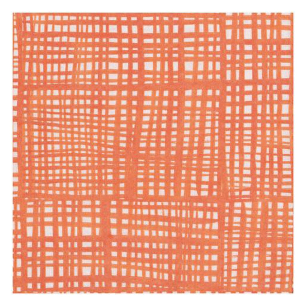 ORANGE AND WHITE RAFFINE LARGE NAPKINS from Geese & Ganders