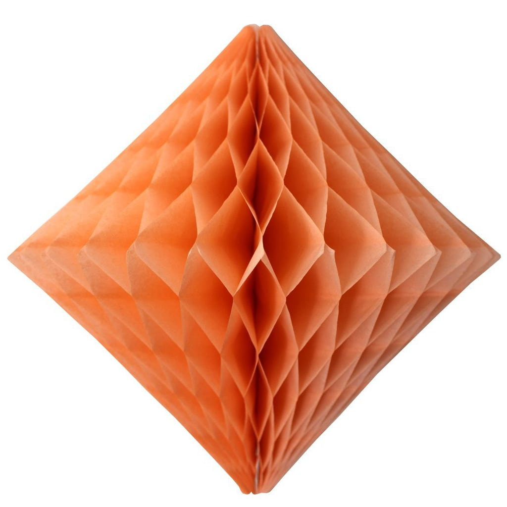 Peach Diamond Honeycomb 12""