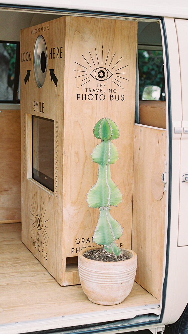 Photo Bus from Peace, Love & Party styled by Deets & Things | Black Twine