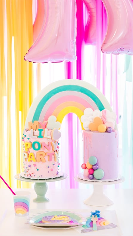 Rainbow Cake from My Lil' Pony Party styled by But First, Party! & Bonjour Fete | Black Twine