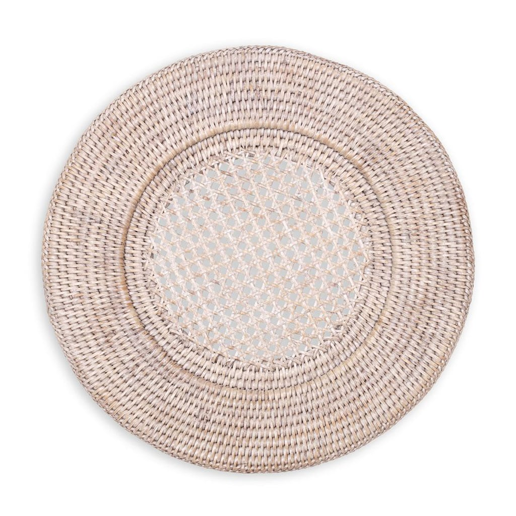 Rattan Round Plate Charger by Caspari