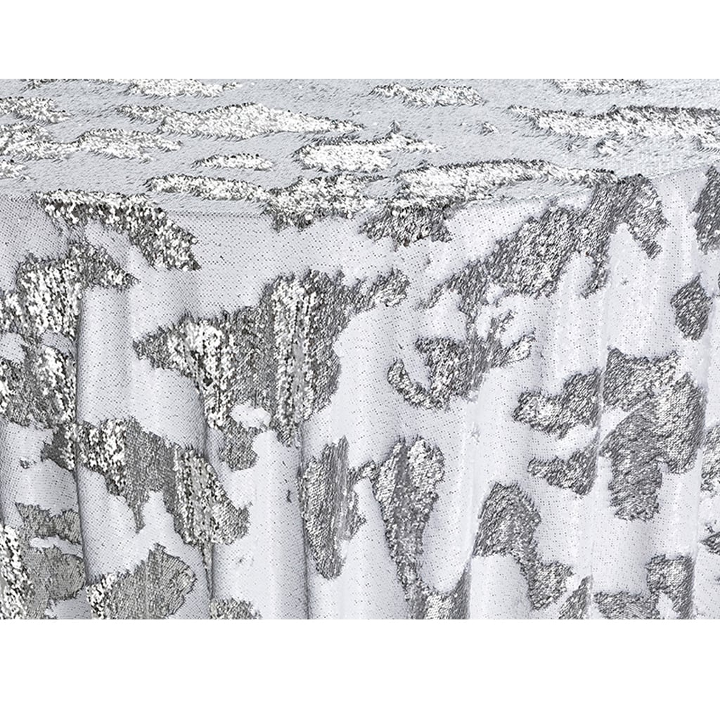 Linen Rental, SILVER MERMAID SEQUIN