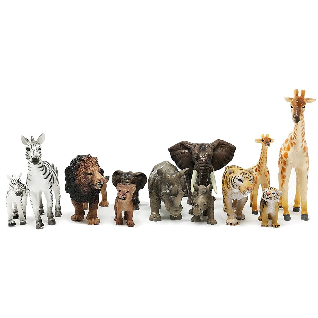 Gold Safari Mini Jungle Animal Table Decorations
