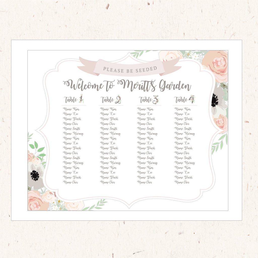 Seating Chart Board by DohlHouse Designs