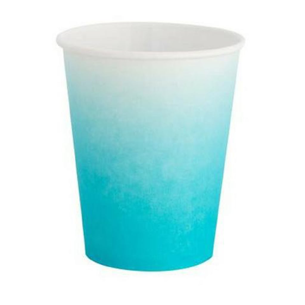 SKY BLUE AND WHITE OMBRE CUPS from Geese & Ganders