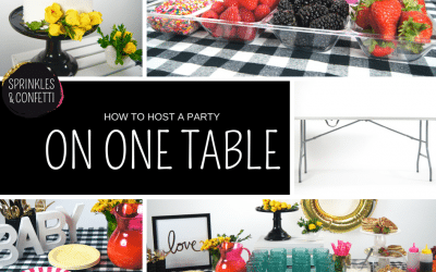 Party Decor Tips: Creating a Party Table with Sprinkles & Confetti