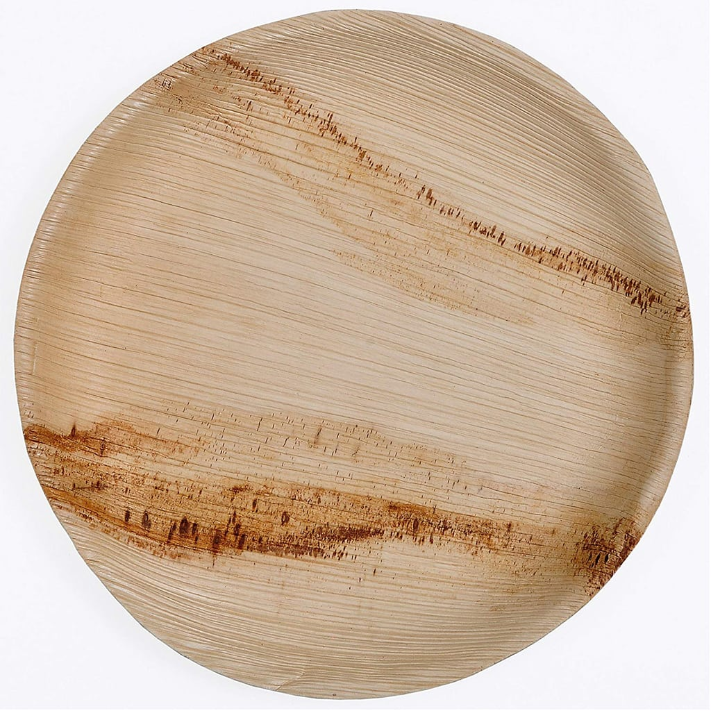 ARECA PALM LEAF DISPOSABLE PLATES (100 Ct)